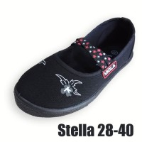 stella - sepatu sekolah hitam anak perempuan murah