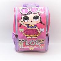 Tas ransel sekolah anak TK jepang 3D LOL kaca mata ungu