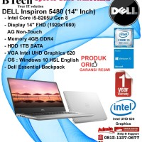 DELL Inspiron 5480 Intel Core i5-8265U/4GB/1TB/VGA Intel UHD/Win10HSL