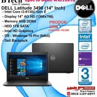 """DELL Latitude 3490 (14"""" Inch) Intel Core i3-8130U/4GB/1TB/Win10Pro"""