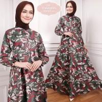 Maxi Emma (50) Army Baju Muslim Wanita Gamis Model Kekinian Terbaru