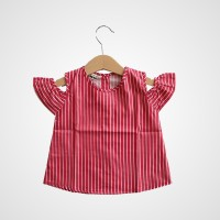 Kicau Kecil - Cut-Out Shoulder Blouse - Atasan Anak 6m-8T