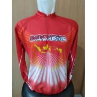 kaos jersey sepeda-baju balap sepeda indonesia panjang grade ori