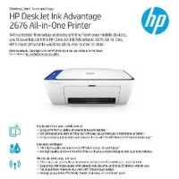 LIMITED HP DeskJet 2676 Printer All In One Wireless Original Murah
