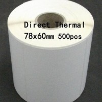 TURUN HARGA Direct Thermal 78X60mm 1 Line 500pcs Core1 gap Lab Limited