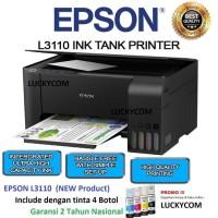 Epson Printer L360/ L3110 Print-Scan-Copy - Hitam ( Produk Terbaru )