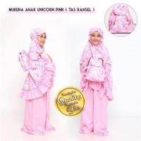 Mukena Anak Ukuran XXL Tas Ransel Karakter Unicorn Pink