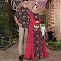ANDARA - Setelan Kebaya Blouse Kemeja Batik Couple Pria Wanita Murah