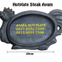 Hot Plate Steak Asaka Sunrise Bentuk Ayam Murah