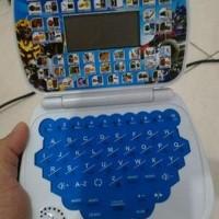 Best Mainan laptop anak mini belajar 4 bahasa transformers & frozen