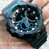 Best jam tangan pria Casio G-Shock GA700 list biru kw super