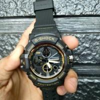 Best jam tangan sport casio G-Shock GA2000 hitam list gold kw super