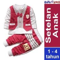 Harga baju setelan anak cowok laki formal pesta casual santai merah | Pembandingharga.com