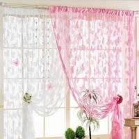Harga hpr357 tirai benang motif kupu kupu rumah jendela kamar gorden | Pembandingharga.com