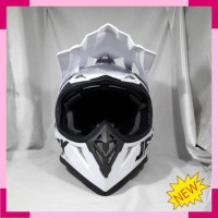 Helm cross JPX Helm SNI Helm Trabas Warna metalik pearl white