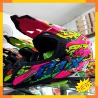 Helm Cross Gix Warna pink