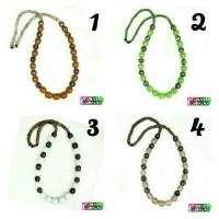 Harga kalung batu dayak airmas manik strip warna kalimantan etnik | Pembandingharga.com