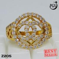 Z205 - Cincin Berlian Chanel KW - Set Perhiasan Imitasi Xuping Lapis