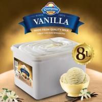 Ice Cream Campina Vanila 8 ltr/ Es krim 8 liter/ Eskrim Ember