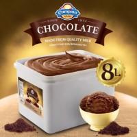 Ice Cream Campina Chocolate 8 ltr/ Es krim 8 liter/ Eskrim Ember
