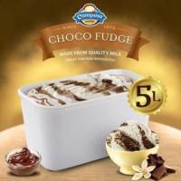 Ice Cream Campina 5lt CHOCO FUDGE / es krim 5 liter