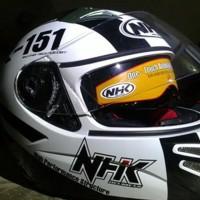 Promo Terbaru Helm Nhk Terminator Starbase Full Face Visor X-151 Black