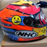 Promo Terbaru Helm Nhk Gp Tech Motif Full Face Limited Fullface Single