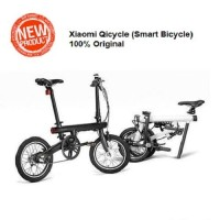 PROMO Xiaomi QiCycle Sepeda Elektrik Lipat Smart Bicycle - Black