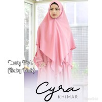 Khimar Syari Cyra Dusty Pink by Amily Hijab