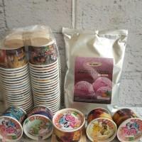 Paket Bahan Es Krim Mr. COOL 250gr + Papercup 50ml - Coklat