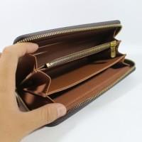 TERLARIS terbaru Dompet Wanita Branded Import LV BROWN MONO Bahan