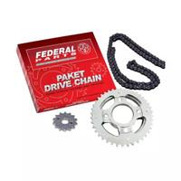 Harga federal paket rantai gir set motor for honda new | Pembandingharga.com