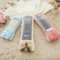 Sarung Pelindung Penutup Cover Remote TV AC DVD Motif Renda Karakter