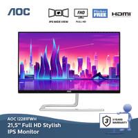 Jual AOC I2281FWH - FHD 21.5-inch Monitor, IPS Panel, Ultra Slim Body. Murah