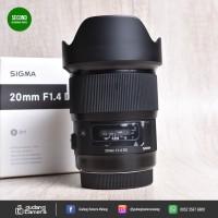 LIKE NEW !! Sigma 20mm f1.4 DG Art fit Canon @Gudang Kamera Malang