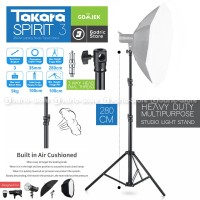 Light Stand TAKARA Spirit-3 Tripod Studio Air Cushion Flash / Pegas