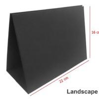 Tatakan | Kaki Kalender Meja Linen Hitam Ukuran 22 x 16 cm