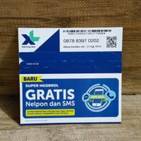 Nomor Cantik 8397 0202 Perdana XL SUPER NGOBROL GRATIS Nelpon SMS