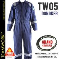 TW05 TeamWork Coverall Anti Percikan Api Wearpack Baju Kerja Safety