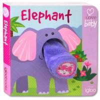 Buku Bayi - Buku cerita anak - I Love My Baby ELEPHANT Finger Puppet