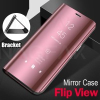 Clear view standing cover case Samsung S7 EDGE Flip Mirror