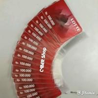 Voucher Lottemart pecahan 100.000