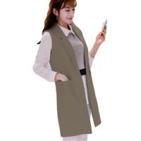 Shadako Okechuku Blazer Tanpa Lengan Rompi Vest Fashion Wanita Korea