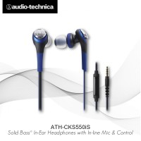 Audio-Technica ATH-CKS550iS BL ( EX ) BLACK / BLUE