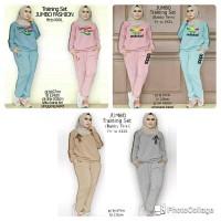 Baju Olahraga Training Set Baju Jumbo Setelan Baju Olahraga Muslim