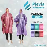 Jas Hujan Poncho Lengan Polkadot Plevia 850 Murah (Di atas Elmondo)