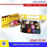 Box Donat Ukuran 27x18,5x5,5cm isi 50 pcs