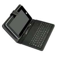Leather Case Keyboard Sarung Tablet 7 Inch For Hp Colokan Micro Usb