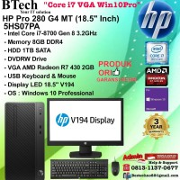 HP PRO 280 G4 MT - 5HS07PA Core i7-8700/8GB/1TB/DVDRW/VGA/Win10Pro/3YR