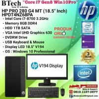 HP PRO 280 G4 MT - HPDT4NZ68PA Core i7-8700/8GB/1TB/DVDRW/Win10Pro/3YR